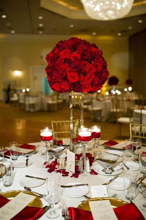 Red Roses Tall Centerpiece   Life's Highlights   Wedding