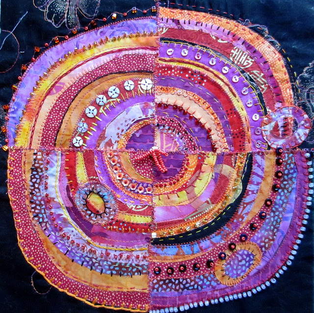 Pink & Orange recycled circles