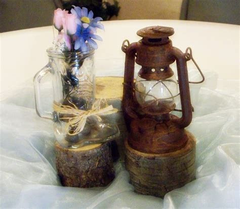western wedding centerpieces   blue western wedding theme