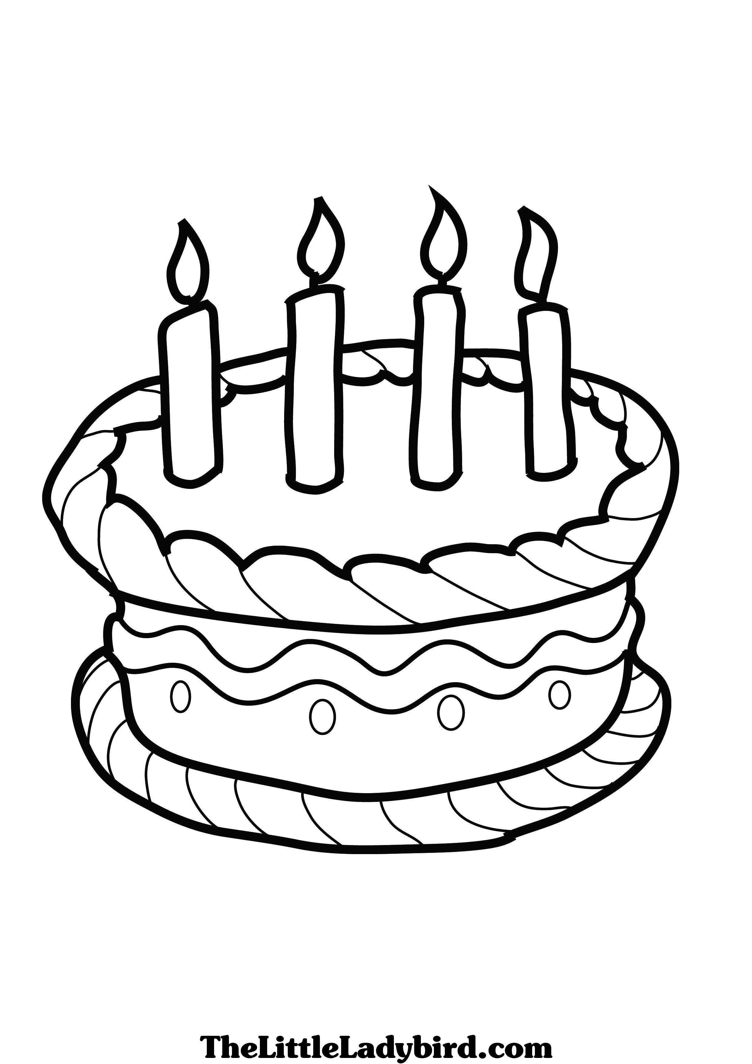 Birthday Cake Coloring Pages To Download And Print For Free Coloring Pages