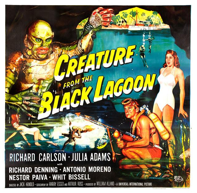 Reynold Brown - Creature From the Black Lagoon (Universal International, 1954). Six Sheet