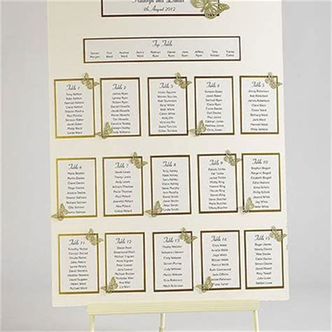Butterfly Wedding Table Plan Seating Kit A2   Confetti.co.uk