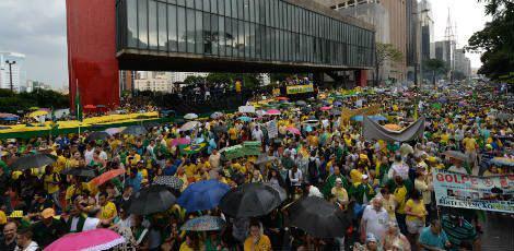 A corporação informou que não foi registrado nenhum incidente no ato / Foto: Nelson Almeida / AFP