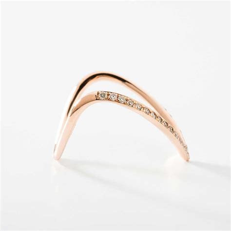 V Shaped Diamond Ring   Wedding, Promise, Diamond