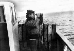 Il capitano Gilante sull'Andromeda(Archivio Mazara forever).