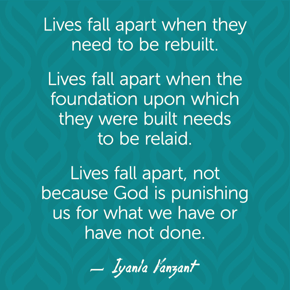 Iyanla Vanzant Quotes Lives Fall Apart