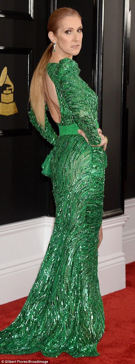 Dando um mergulho: Celine Dion enfeitou-se com um vestido de Zuhair Murad