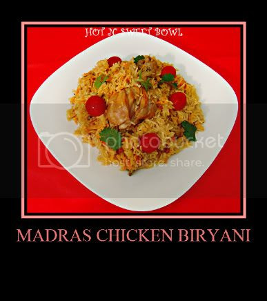 madras chicken biryani