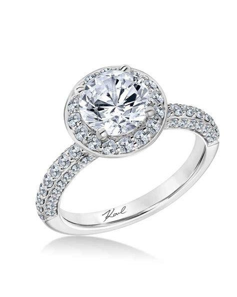 White Gold Engagement Rings   Martha Stewart Weddings