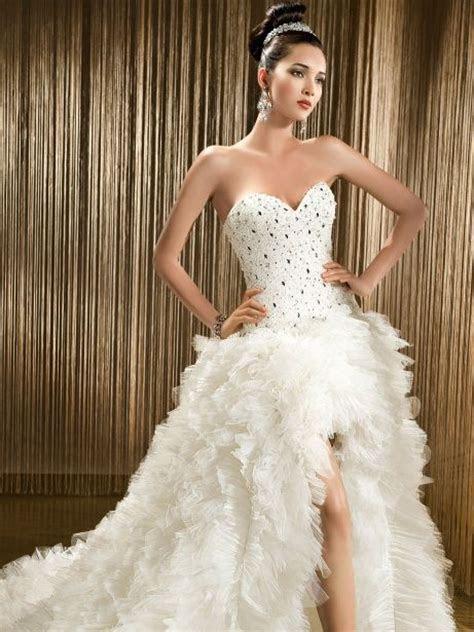 High low wedding dress by Demetrios   {Wedding} Dresses
