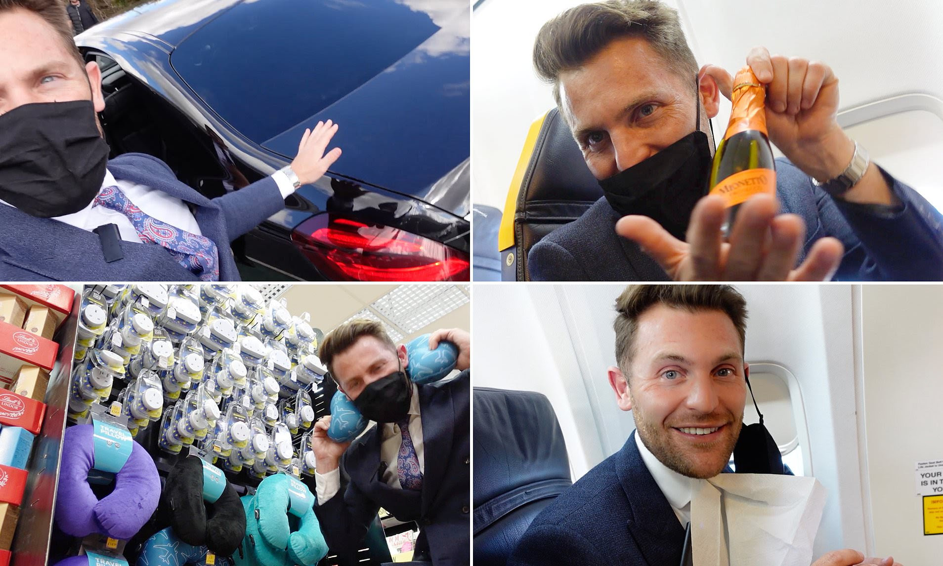 Travel expert buys every extra in a bid to make flying Ryanair a first-class experience
