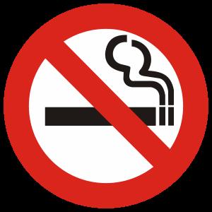 A 'No Smoking' sign