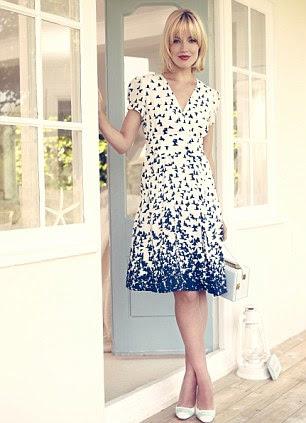 Bird print dress, £79, johnlewis.com. Court shoes, £220, kurtgeiger.com