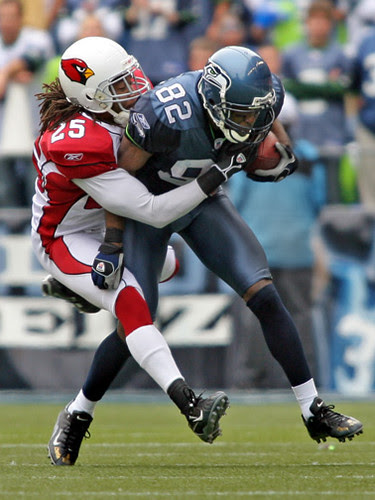 Darrell Jackson drags defender