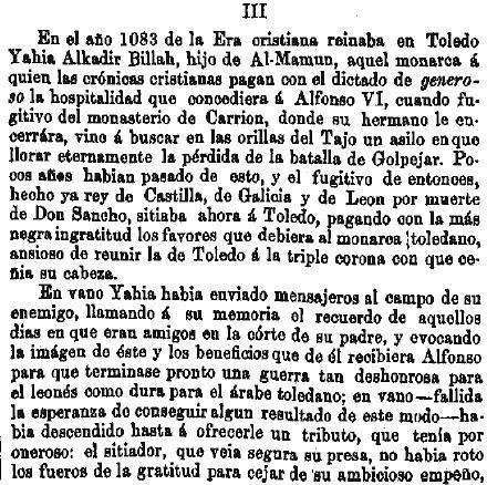Leyenda de La Peña del Moro publicada en La Amérca por Eugenio de Olavarria y Huarte. Página 5