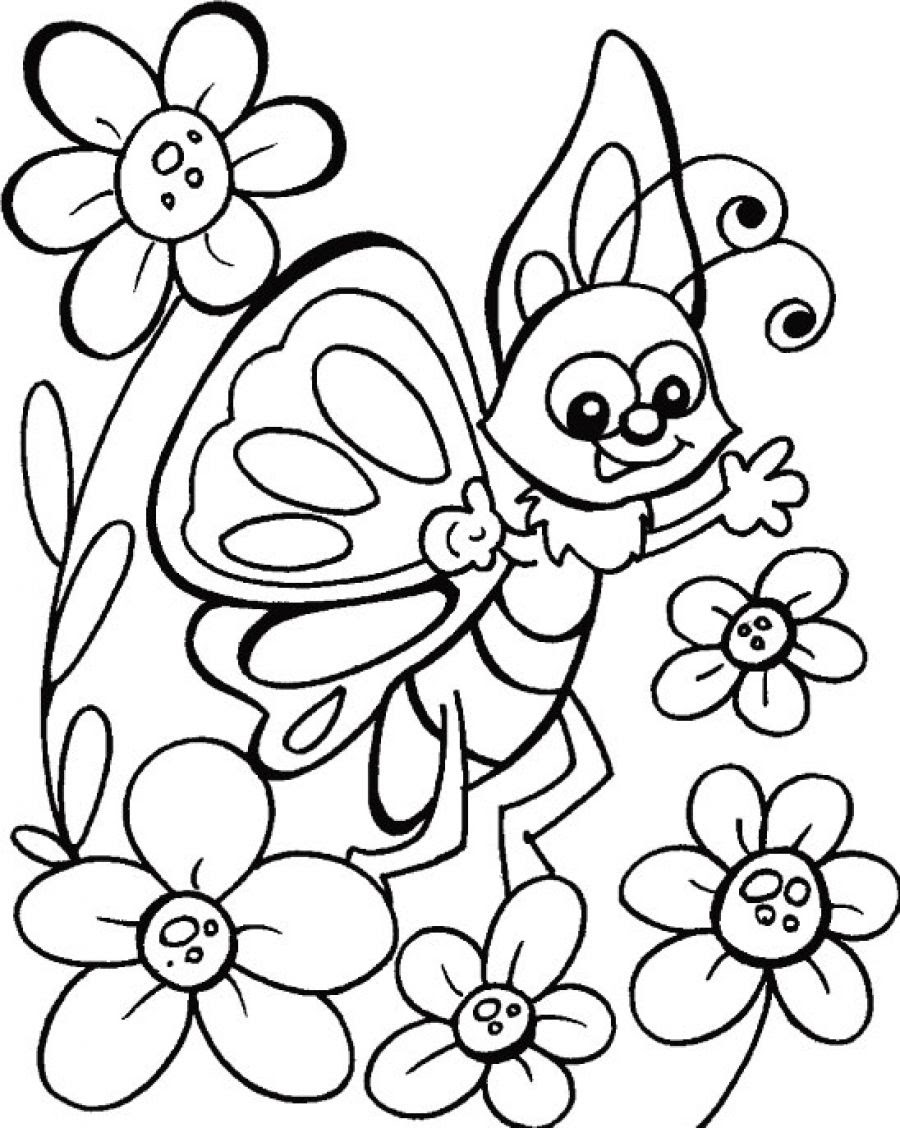 Cute Butterfly Coloring Pages at GetDrawings   Free download