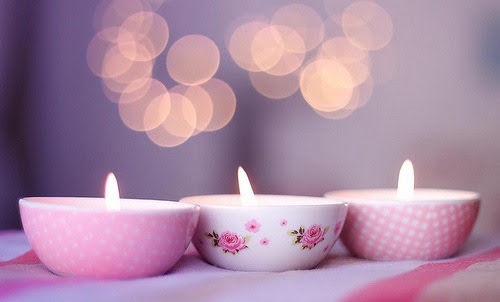 Pretty Pink Candles