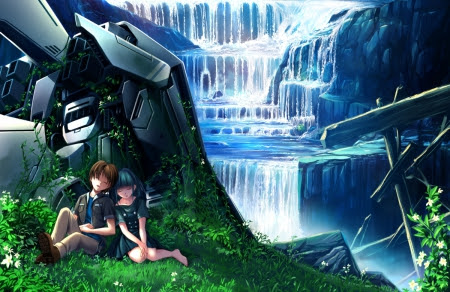 WaterFall - Other & Anime Background Wallpapers on Desktop ...
