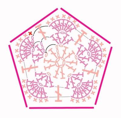Цветочный фрагмент крючком АФРИКАНСКИЙ ЦВЕТОК для вязания игрушек (82) (400x389, 89Kb)