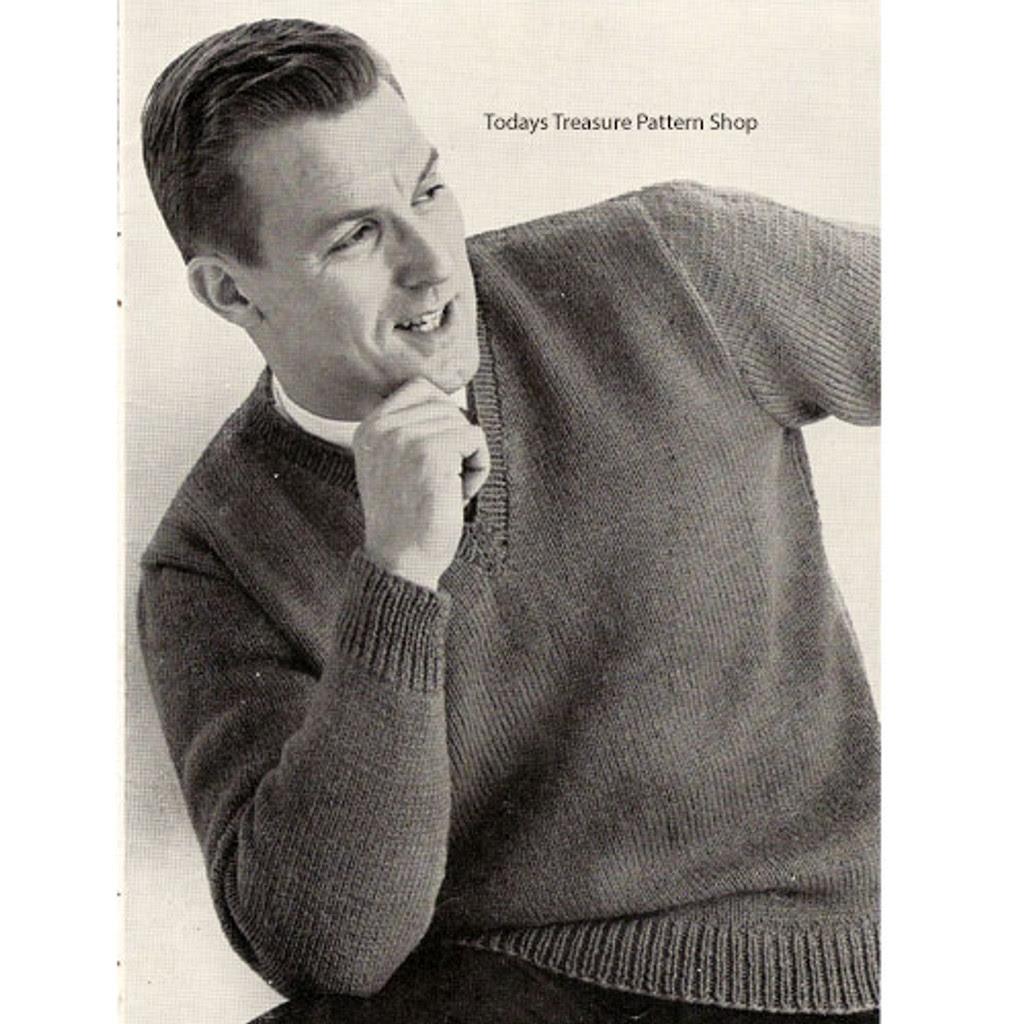 Mans Easy Knit Pullover Pattern