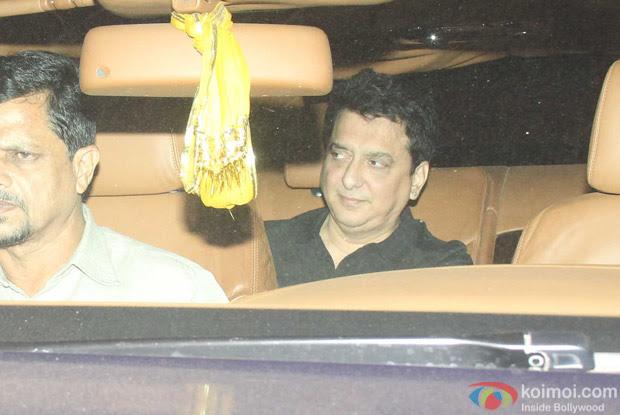Sajid Nadiadwala spotted at Salman Khan's House