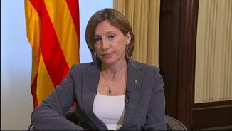 """Carme Forcadell, entrevistada a """"Els matins"""" de TV3 des del Parlament"""