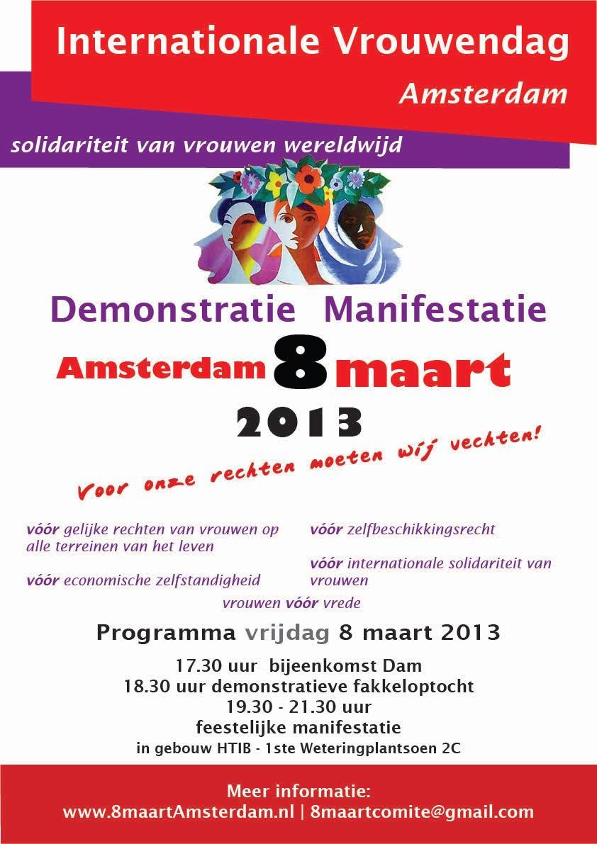 poster 8 maart 2013