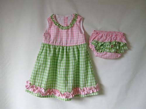 Pinkgreen baby dress