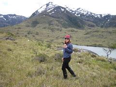 Ginger hiking patagonia