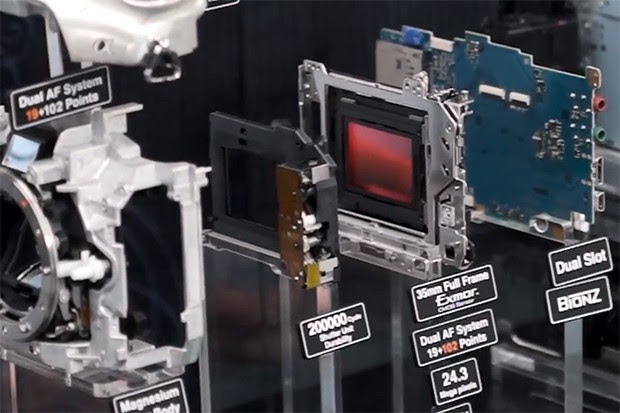 Sony's Alpha A99 gets torn apart, exposes its 35mm full-frame sensor