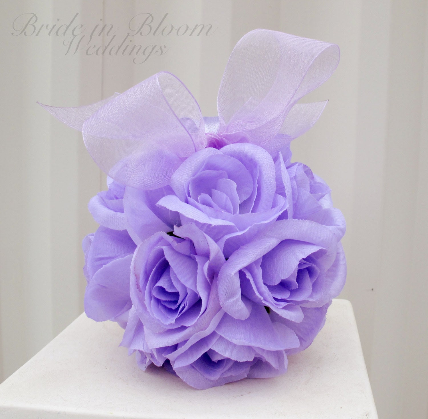 Wedding flower ball flower girl pomander lavender bouquet kissing ball wedding decoration - BrideinBloomWeddings