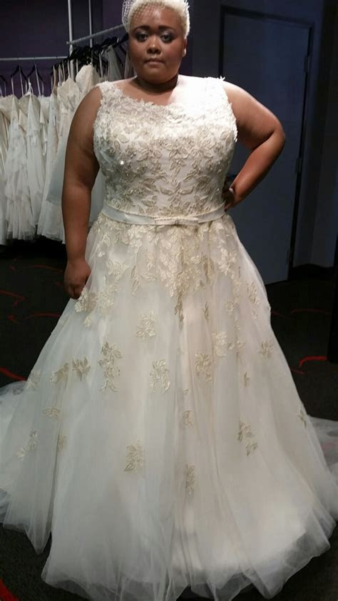 Gold Plus Size Wedding Dress   biwmagazine.com