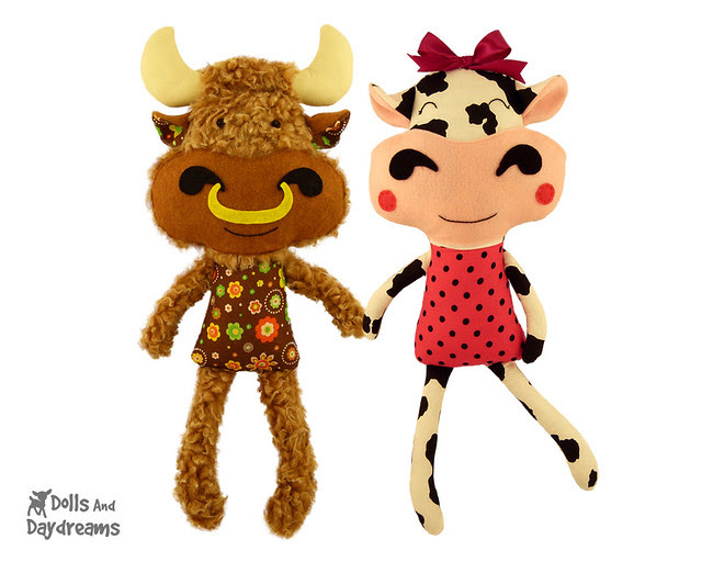Cow & Bull Sewing Pattern