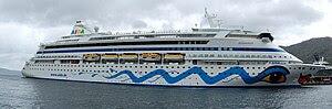The cruise ship AIDA Aura in Bergen in 2009.