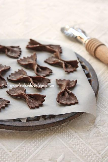 Farfalle al cacao
