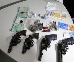 Armas apreendidas (Foto: SSP/SE)