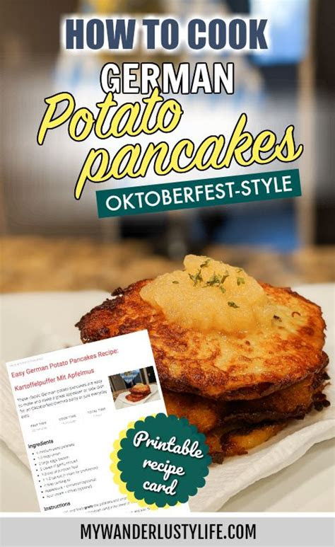 kartoffelpuffer mit apfelmus recipe   potato