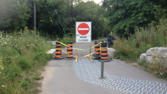 Toronto cyclist Matt Turner sent a complaint after construction closed off the Don River Valley bike path, effectively making the route a dead end.