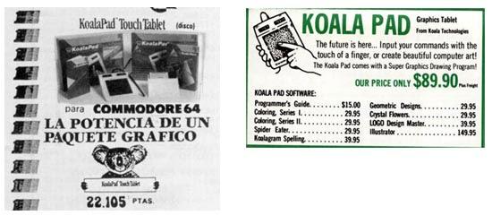 Precios KoalaPad Commodore 64
