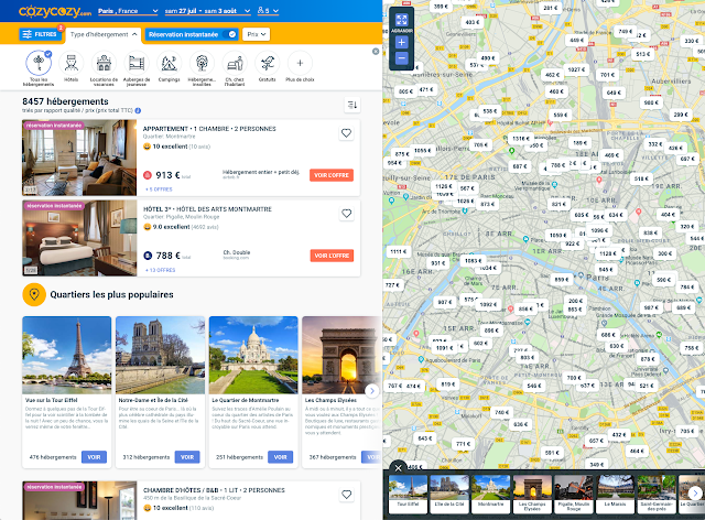 Cozycozy is an accommodation search service that works with hotels and Airbnb
