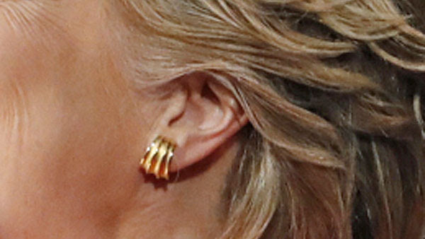A close-up view of the same Reuters photo of Hillary Clinton's left ear at the first debate with Donald Trump.