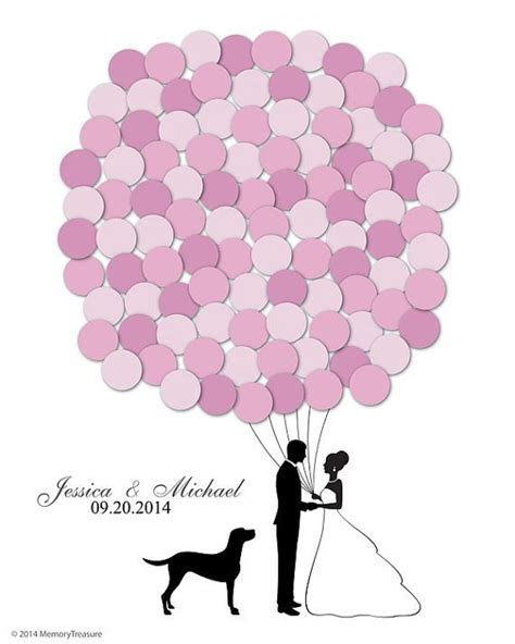 Wedding Guest book Alternative Balloons Labrador Dog