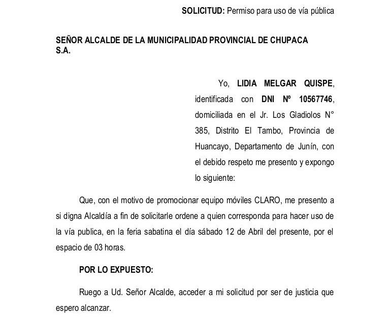 Carta De Solicitud De Jubilacion En Venezuela U Carta De