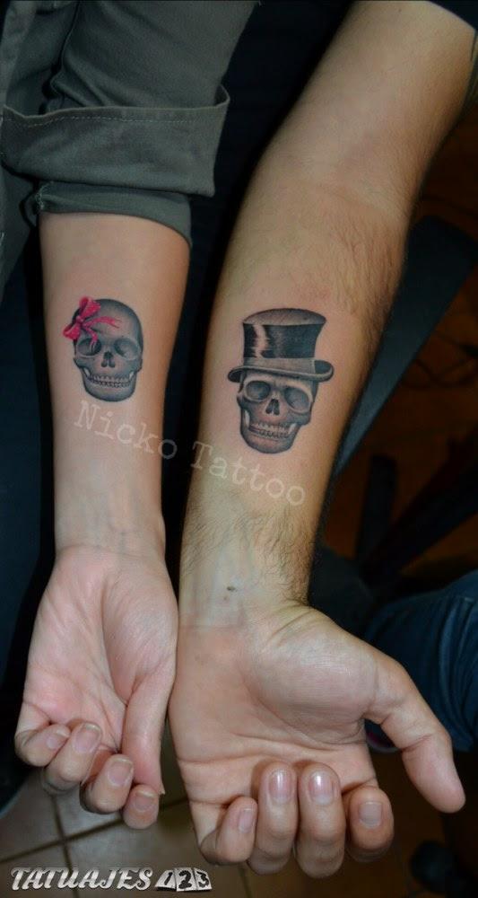 Parejita De Calaveras Tatuajes 123