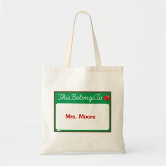 Teacher Gift! Canvas Bag bag