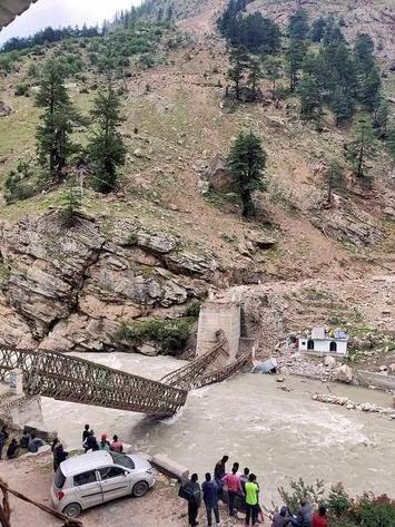 Human activity causes increase in landslides. Hydro Tunnels triggered landslides.