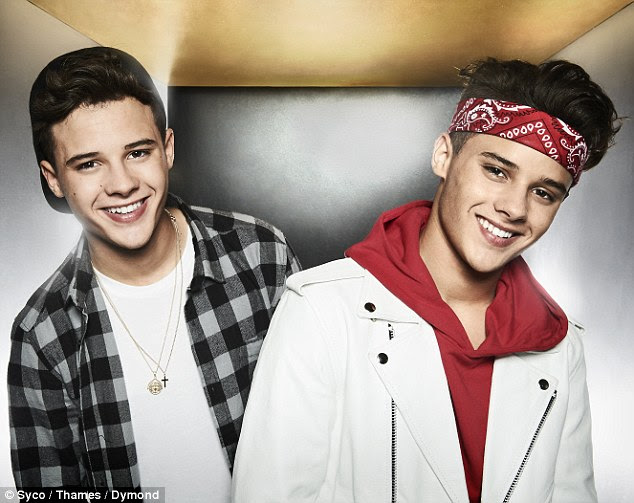 Serious: Twin singers Josh and Kyle Brooks, aka Brooks Way, have been dropped from Saturday night's X Factor live show