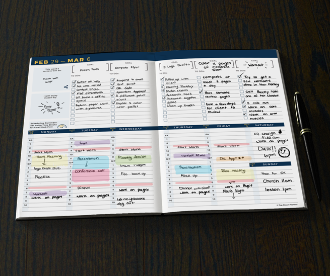 Top Down Planner - All-in-One Weekly & Monthly Planner, Goal ...
