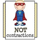 NOT Contractions Mini Unit : Grammar, Language Activities