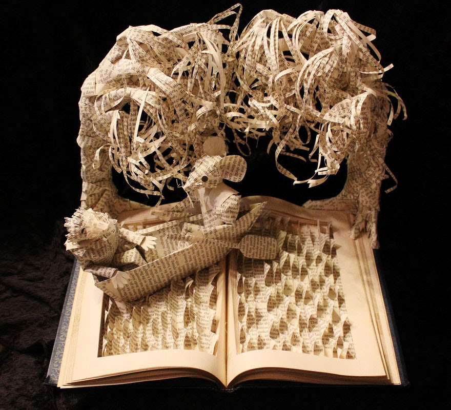 Traveling On The Lake Book Sculpture